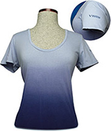 D114731 - Virginia Wildlife Scoop Neck Womens T-Shirt, Blue - thumbnail