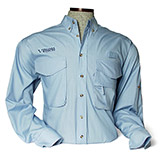 D114740 - LS Solar Shield Fishing Shirt, Virginia Wildlife, Mens, Blue - thumbnail