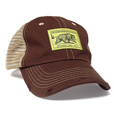 55826 - Vintage Bear Stamp Hat, Brown - thumbnail