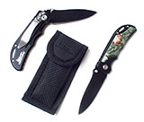 55895 - Camo Folding Knife with Belt Clip, Virginia Wildlife - thumbnail