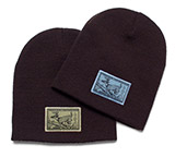 DG113868 - Uncuffed Beanie Hat with Deer Patch - thumbnail