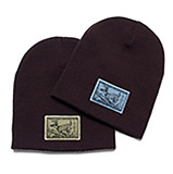 169041 - Uncuffed Beanie Hat, Deer Patch, Set of 2 - thumbnail