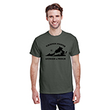 D298691 - Unisex Military Green Licensed and Proud T-Shirt - thumbnail