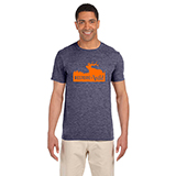 D298686 - Unisex Heather Navy Restore the Wild T-Shirt - thumbnail